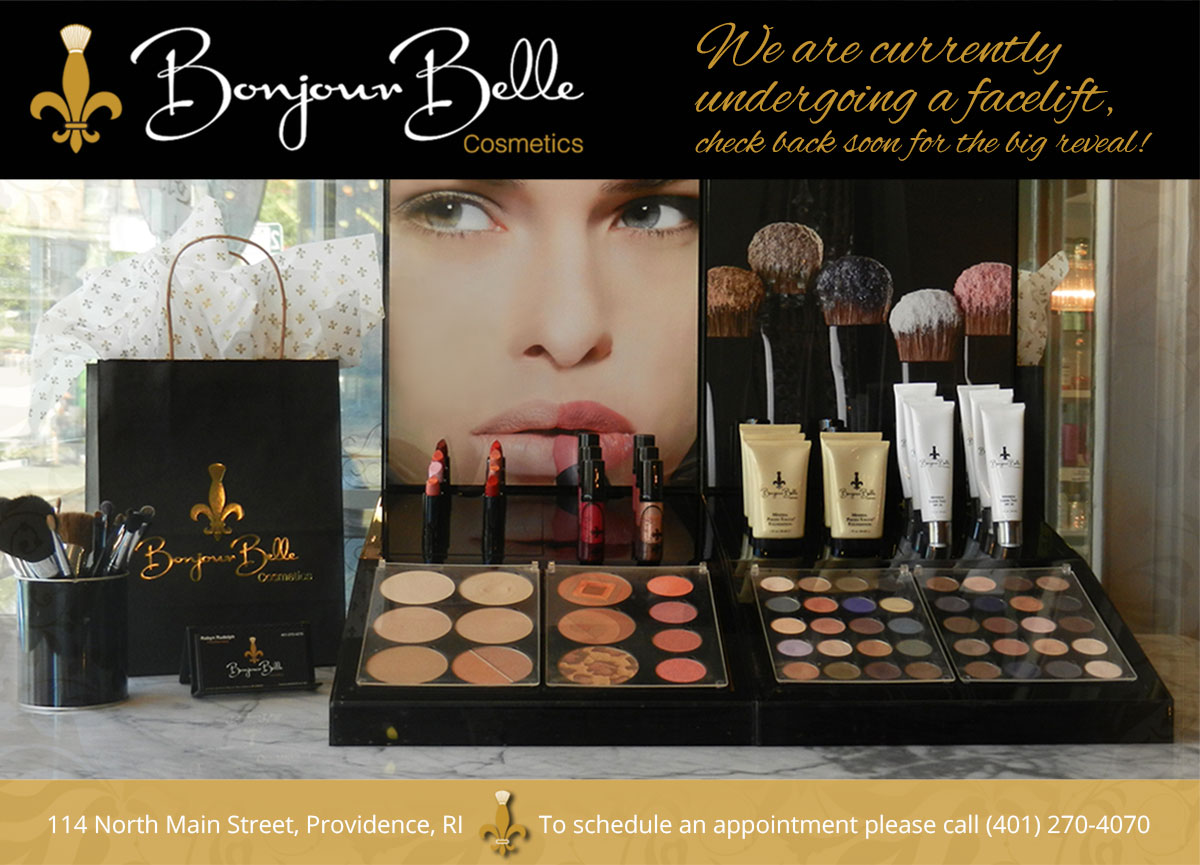 Bonjour Belle Cosmetics is undergoing a facelift - check back soon for the big reveal!